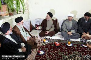 خاتمی و آیت الله دستغیب، سفر استانی به شیراز - عکس: ایمان میراب زاده