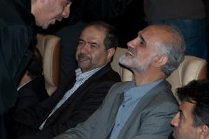 مصطفی معین، محسن امین زاده و سعید شریعتی - عکس از علی شیخ الاسلامی